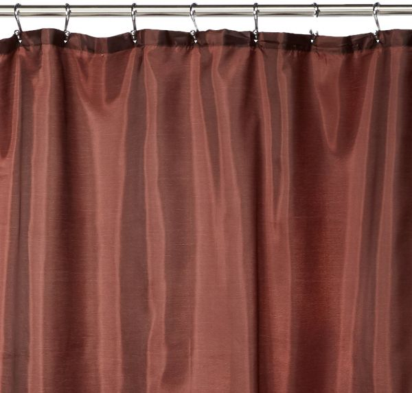Carnation Home Fashions Fabric Shower Curtain Liner 70 Inch By 72 Brown