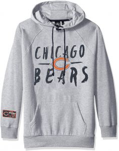 Icer Brands NFL Chicago Bears Women s Fleece Hoodie Pullover Sweatshirt Tie  Neck 0a2d17657