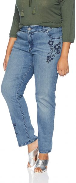 9072226c87bb6 LEE Women s Plus-Size Flex Motion Regular Fit Straight Leg Jean ...