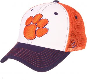 sports shoes bb441 88e78 Zephyr NCAA Clemson Tigers Mens Threepeatthreepeat Relaxed Cap, White Team  Color, Adjustable