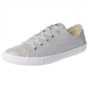Nike Converse Chuck Taylor All Star Dainty Fashion Sneakers for Women -  Silver 5cede23eaef07