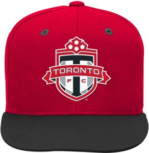 new product a171b e515c Outerstuff MLS Toronto FC Boys Flat Visor Snapback, Red, One Size (8)