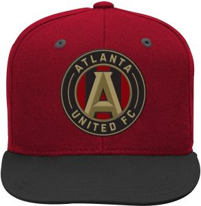8af7a4e53cc Outerstuff MLS Atlanta United Boys Flat Visor Snapback