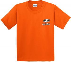 a66e89eb2 Image One NCAA Oklahoma State Cowboys Girls Cheer Loud Short Sleeve Cotton T -Shirt
