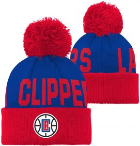 official photos 81d6e bd837 Outerstuff NBA Los Angeles Clippers Children Boys Cuffed Knit with Pom Hat, 1  Size, Blue