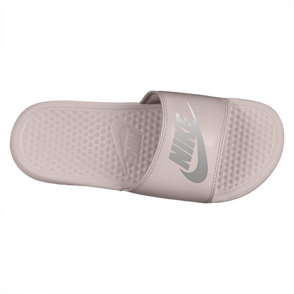 cheaper bb167 cac68 Nike Benassi JDI Slide Slippers for Women - Particle Rose Metallic Silver    Souq - UAE