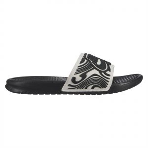 4e598c52b7f7 Nike Benassi JDI SE Slide Sandals for Men - White Black