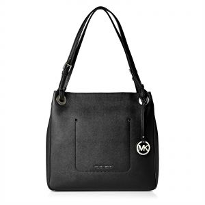f9eb0d26c7 Buy michael kors anabelle medium top zip leather tote bag - black ...