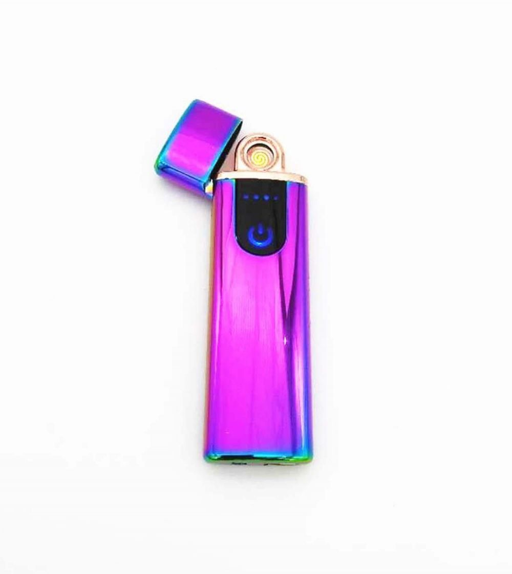 USB Lighter Touch Senstive Switch Lighter Cigarettes power remaining light For Smoking Ciga Electronic Lighter