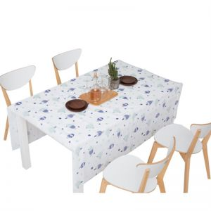 Disposable Plastic Waterproof Dining Table Party House Camping Tablecloth 4pcs Other Home Organization