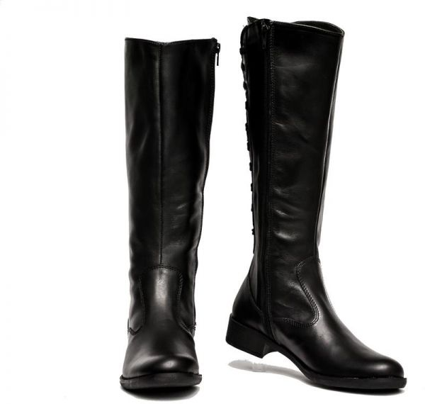 366d59850fb8 Pasotelli Black Knee High Back Lace-Up Boots - Black -40