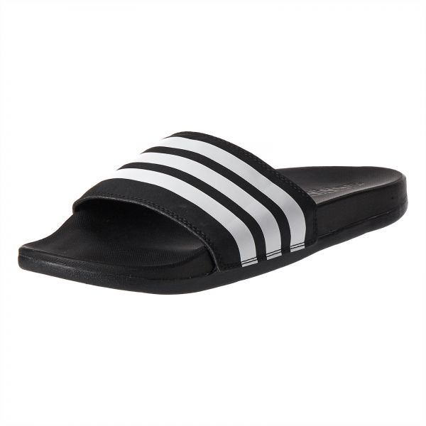 0f3a4f013f824 adidas Adilette Stripes Slides Flat Sandals for Women - Core Black White