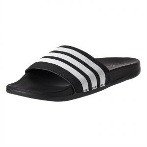 4bc4cb30ab53 adidas Adilette Stripes Slides Flat Sandals for Women - Core Black White