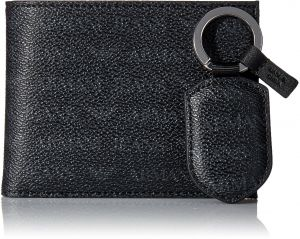 9b158bef7962 Armani Jeans Men s All Over Logo Pu Bifold Wallet With Coin Pocket    Keyring