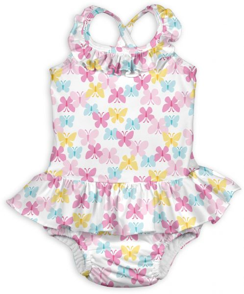 64cb22a971ac0 i play. Baby Girls 1pc Ruffle Swimsuit with Built-in Reusable ...