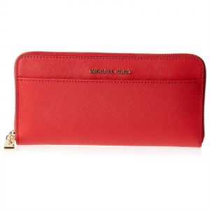 c435932776a6b3 Michael Kors Money Pieces Pocket Zip Continental Wallet for Women -  Leather, Red