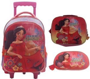b7713c0bce3b 3D Elena School Bag Trolley With Backpack for Children - 15inch - Set of 3