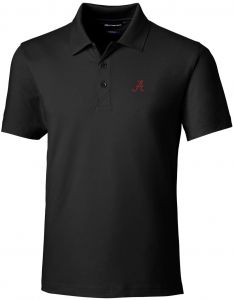 2c73bb374392 Cutter   Buck NCAA Alabama Crimson Tide Short Sleeve Tailored Fit Solid  Forge Polo