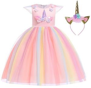 665d698da899f Baby Girls Rainbow Unicorn Tutu Dress Princess Fancy Dress Birthday Pageant  Party Dresses Girls Christmas Halloween Pony Dreams Princess for Baby Girls  ...