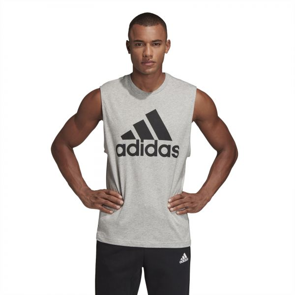 53c38a96a6324 Adidas Must Haves Badge of Sport Tank Top for Men - Black   Grey. by adidas