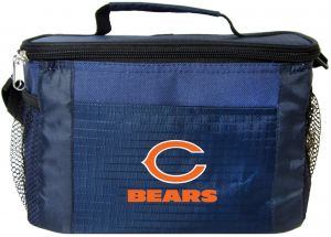 0ec98f274b NFL Chicago Bears Team Logo 6 Can Cooler Bag or Lunch Box - Blue