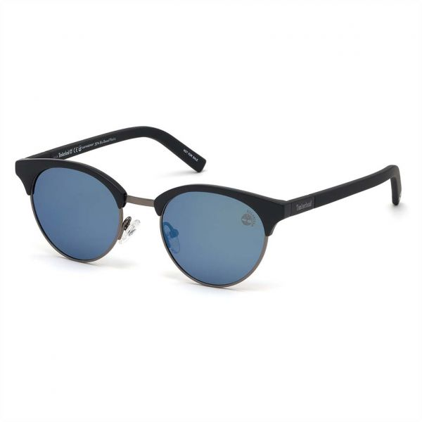Timberland Clubmaster Sunglasses for Men - Blue Lens, TB9147-05D