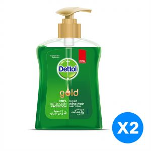 a5c9b7f8aecf Dettol Gold Daily Clean Anti-Bacterial Liquid Hand Wash 200ml Twin Pack