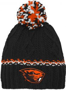 e2c2a0119bc NCAA by Outerstuff NCAA Oregon State Beavers Youth Girls Cable Knit  Cuffless Hat w Pom