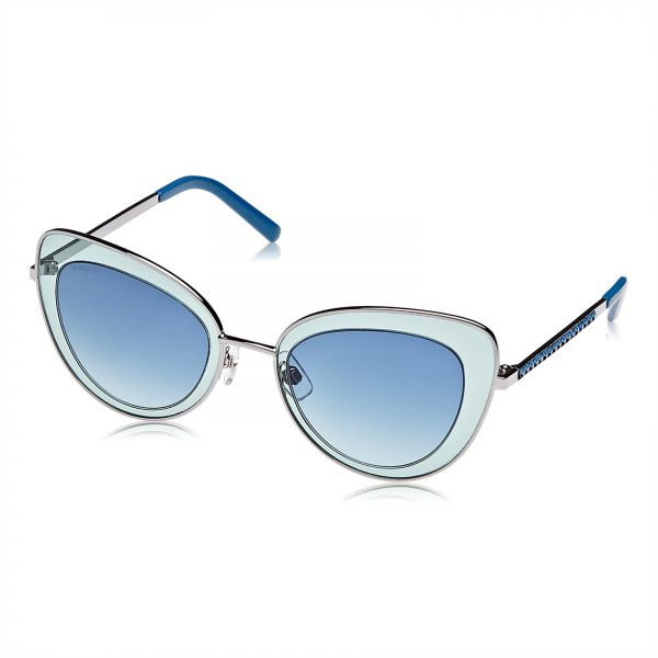 Swarovski Cat Eye Sunglasses for Women - Blue Lens, SK0144-14W