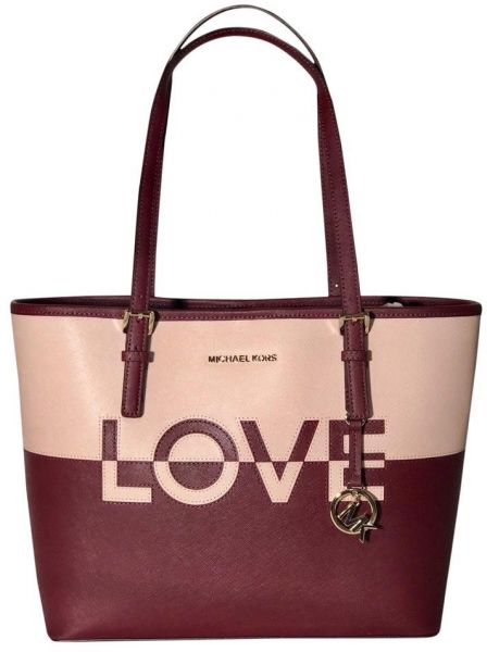 373d9352f956 Michael Kors Jet Set Travel, LOVE Carry-all Leather Tote Bag for ...