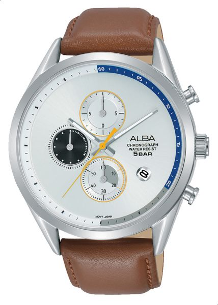 fe3afeaac Alba AM3573X1 Analog Leather Casual Watch for Men - Light Brown