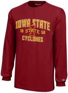 detailed pictures 99634 4135b Champion NCAA Iowa State Cyclones Youth Boys Long sleeve Jersey T-Shirt,  X-Large, Cardinal