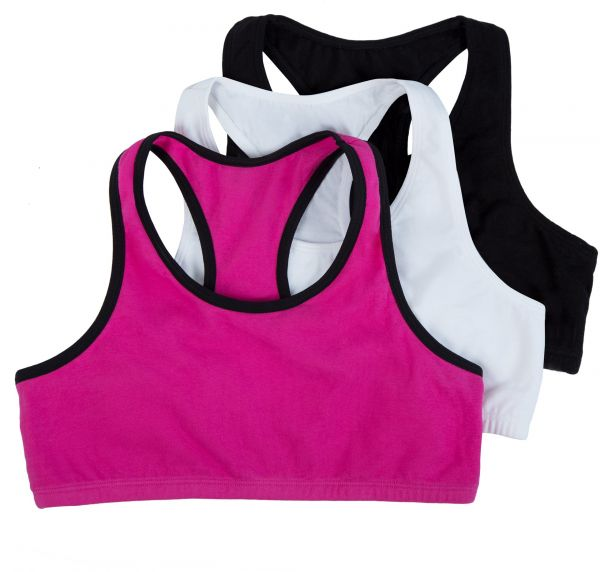 52e289c202eb4 Fruit of the Loom Big Girls  Cotton Built-up Sport Bra