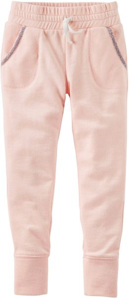 bb5f0db8b Osh Kosh Girls' Kids Fleece Jogger Pants, Light Pink, 12 | Souq - UAE