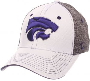 56354fed Zephyr NCAA Kansas State Wildcats Adult Men Equinox Hat, X-Large,  White/Heather Gray