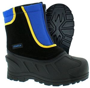 85d21ef0c3d48 Itasca Unisex-Kids Youth Stomper Leather Nylon Winter Snow Boot