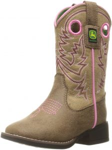 fea4ab0f3752a John Deere Kids  Chi Pink Stitch PO Pull-on Boot