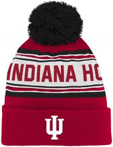 pretty nice 8db8b f5f42 NCAA Indiana Hoosiers Youth Boys Cuffed Knit with Pom Hat, 1-Size, Victory  Red
