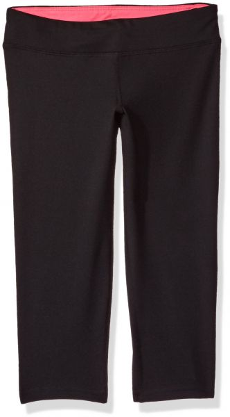 957343edb80b8 Hanes Big Girls' Sport Performance Capri Legging, Black/Pink Extreme ...