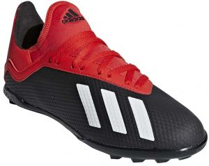 08ca6ccdcf15 adidas X 18.3 TF J Football Shoes for Kids - Core Black Off White Active Red
