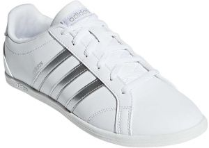adidas Coneo QT Tennis Shoes for Women - FTWR White/Matte Silver Size - 38  2/3 EU