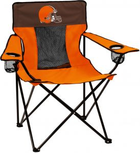Logo Brands Nfl Cleveland Browns Folding Elite Chair With Mesh Back And Carry Bag Orange One Size