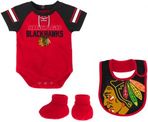 a351f560a88 Outerstuff NHL Chicago Blackhawks Newborn   Infant Little D-Man Onesie
