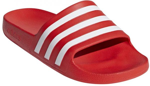 f13d6ead7 adidas Adilette Aqua Flat Sandals for Men - Active Red FTWR White ...