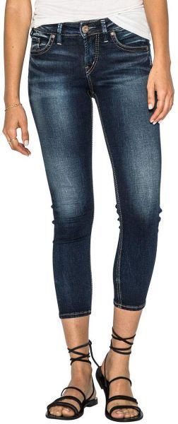 514734af Women's Suki Curvy Fit Mid Rise Skinny Crop Jeans. by Silver Jeans Co.,  Pants - 21 ratings