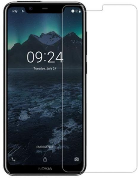 Clear Tempered Glass Screen Protector 2 5D For Nokia 5 1 Plus / X5 Mobile
