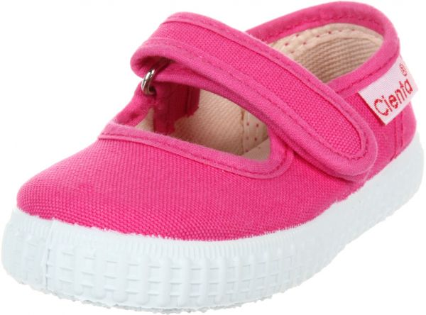 477a34ae805eb3 Cienta Mary Jane Sneakers for Girls - Fuchsia Casual Shoes with Adjustable  Strap