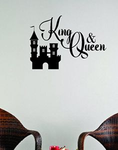 20 x 20 Design with Vinyl Moti 1631 4 Any Home Can Be A Castle When the King /& Queen are in Love Fairy Tale Prince Princess Peel /& Stick Wall Sticker Decal Black