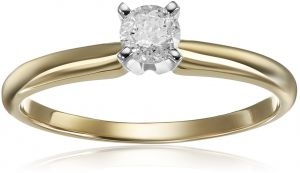 e8fa9f273 14k Round Solitaire Yellow Gold Engagement Ring (1/4cttw, H-I Color, I3  Clarity), Size 6