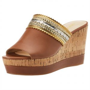9eabc0ea619 Ninewest Varka Wedges for Women - Brown and Gold